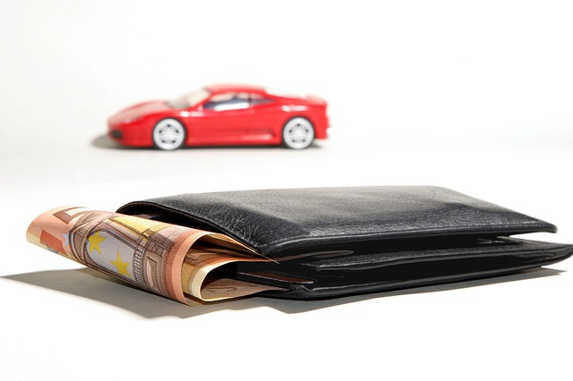 Toy car and a wallet